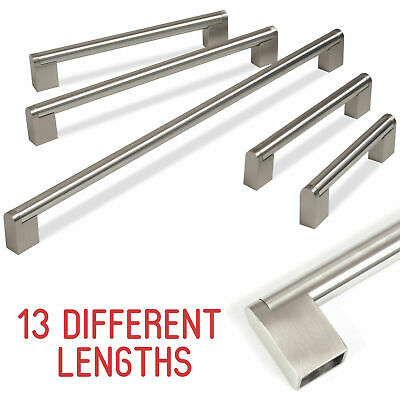 Kitchen Cupboard Cabinet Boss Bar Door Handle Brushed Stainless Steel 128-909mm