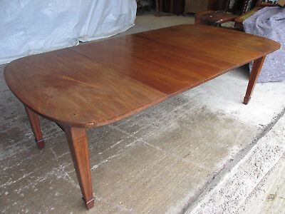 Mahogany Edwardian D End Extending Dining Table (489)
