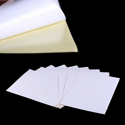 100sheets A4 White kraft paper stickers Self Adhesive Inkjet Laser printing MW