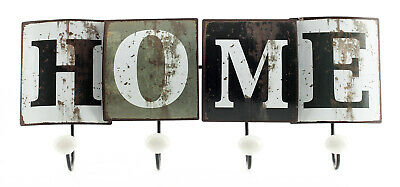 Coat Rack Wall Mounted from metal lettering home Vintage Shabby 46x18x6cm