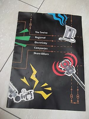 Electricty Companies Share Offers Booklet. 1990