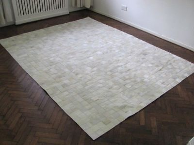 NEW COWHIDE PATCHWORK RUG LEATHER CARPET Cu_530