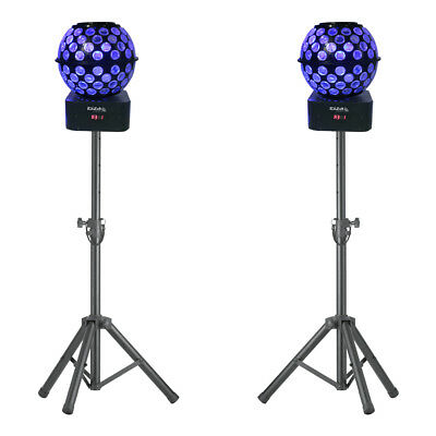 Stagg Tripod Stands with 2x Ibiza Starball (Bundle)