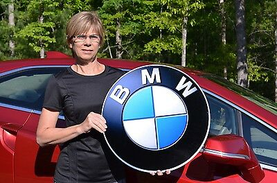 Old Style Bmw Series X M I3 I8 Roadster Car Thick Steel Badge Sign Made In Usa!