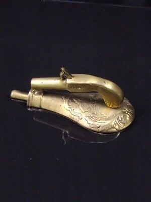 Door Knocker Brass Gun and Powder Flask Very Unique Vintage Home Decor