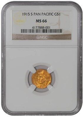1915-S $ Panama Pacific Dollar - Pan Pac MS66 NGC