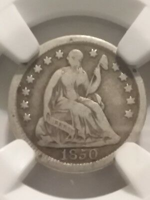 1850-O Liberty Seated Half Dime, H10C, F 12, Ngc, Certified, Silver