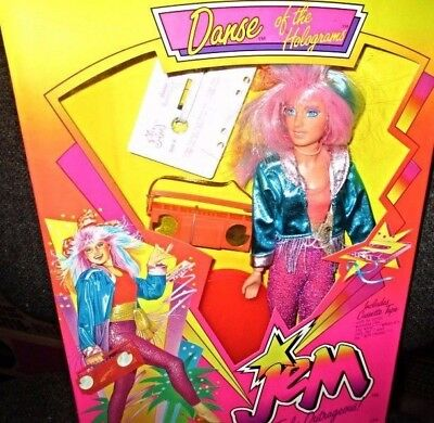 1986 Danse of the Holograms Jem Doll with Cassette Tape Brand New in Mint Box