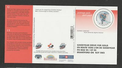 Canada Goodyear Drive for gold  unused advertising postage-paid postal card