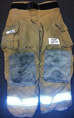38x30 Pants Firefighter Turnout Bunker Fire Gear w/ Liner Globe Gxtreme P637
