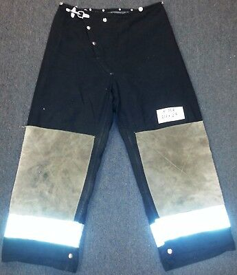 34x28 Firefighter Pants Bunker Fire Turn Out Gear Black Morning Pride P758