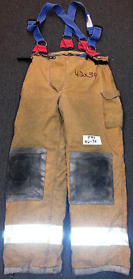 42x34 Pants Firefighter Turnout Bunker Fire Gear Morning Pride +Suspenders P793