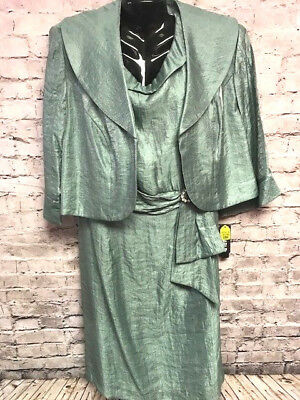 Le Bos Women's 2pc Dress w/ Jacket Formal Mother of the Bride/Groom sz 18W NWT