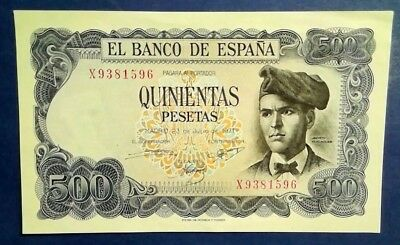 SPAIN: 1 x 500 Pesetas Banknotes Extremely Fine Condition