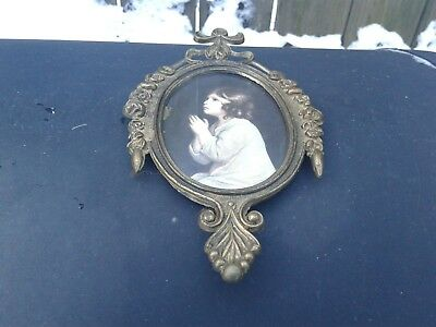 Vintage Ornate Brass Picture Frame  Made In Italy