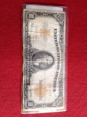 1922 10 Dollar Gold Certificate Nice Note