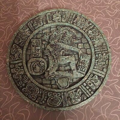 Vintage Zarebski Mexican Aztec Mayan God Wall Plaque