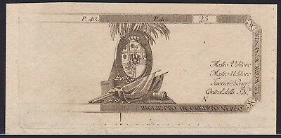 Banknote ITALY - 25 Lire 1780 Remainder - P, S133r in UNC
