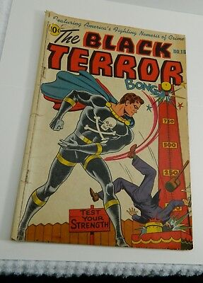 The Black Terror #16 VINTAGE Visual Editions Publishing Pre-Code Golden Age 9/46