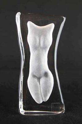 Crystal White Artemis - Swedish Crystal Sculpture By Mats Jonasson (16290)