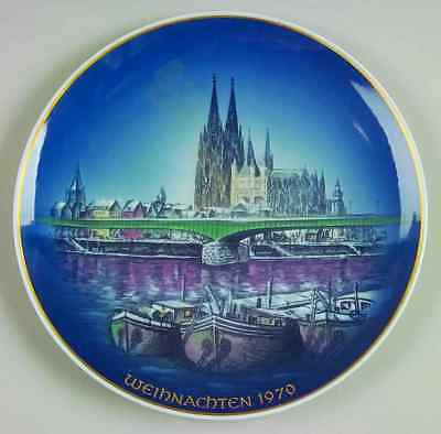 Rosenthal CHRISTMAS PLATE 1970 Christmas in Cologne