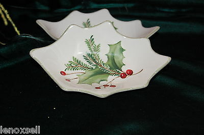 Lenox Holiday Gatherings Figural Dipping Dishes Set of 2 New in Box