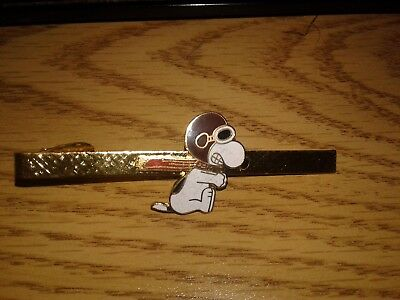 Vintage Aviva Snoopy Flying Ace Tie Bar