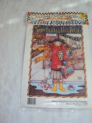 Daisy Kingdom – Mary Engelbreit Iron On Transfer:you Better Not Pout
