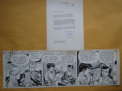 """""""steve Canyon"""" 1964 Daily Comic Strip Original Art-Autographed By Milton Caniff"""