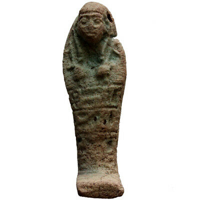 Superb , Ptolemaic Period Ancient Egyptian Faience Shabti Circa 300 Bc