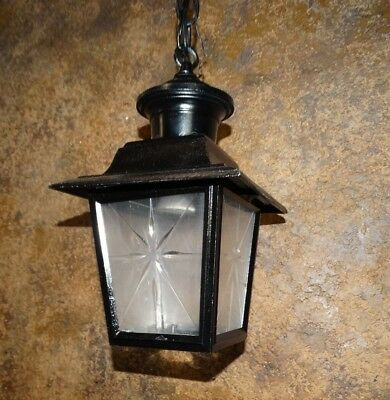 20879 Vintage Hanging Mid Century Porch Light Fixture ~ Rewired Ready to Hang