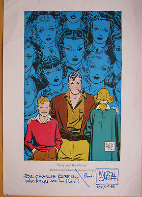 Terry And The Pirates Circa 1936 Rare Color Proof Autographed By Milton Caniff !