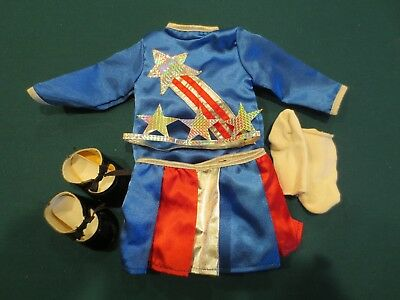 American Girl Doll Molly's Tap Dance Outfit in Good Condition Red white Blue