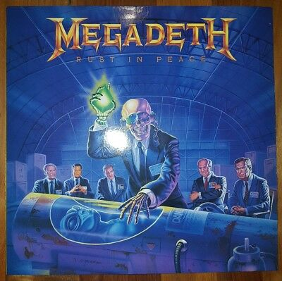 "MEGADETH - Rust In Peace 12""Vinyl inkl.OIS 1st Press 1990 Capitol"