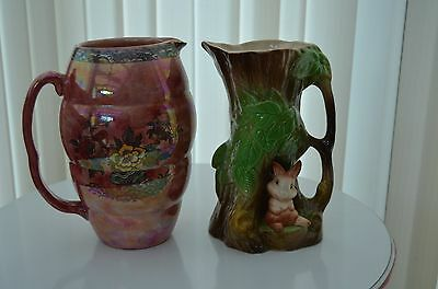 Withernsea Eastgate Fauna Pottery Jug/Vase
