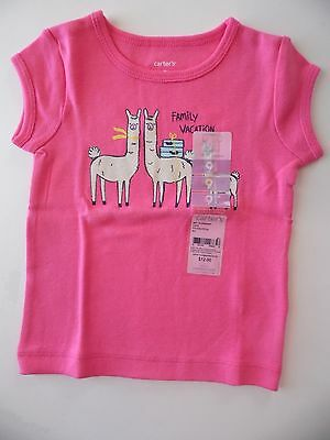 Carter's Shirt Girl Size 9M New Pink Family Vacation