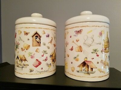 Hallmark Marjolein Bastin Nature's Sketchbook Canister Set of 2 VGC