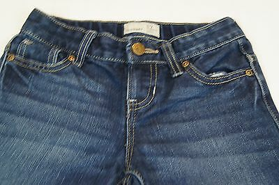 Old Navy Girls Size 7 Reg Denim Capri Jeans Adjustable Waist Stretch Cuffed Leg
