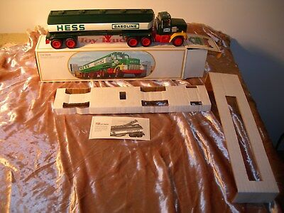 Hess Vintage 1984 Toy Fuel Oil Tanker Truck Bank with Box