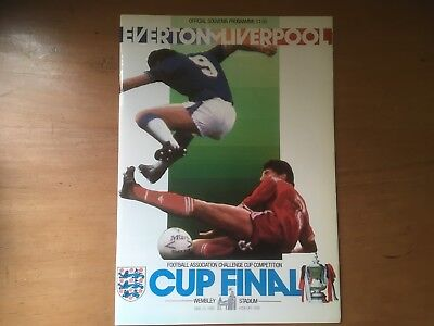 Everton v Liverpool 1986 FA Cup Final Programme