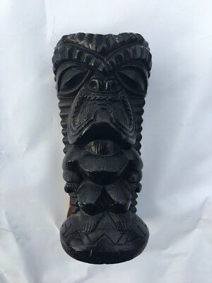 Vintage Coco Joes Tiki Tagged The Lucky Tiki # 107 Made with Lava  In Hawaii