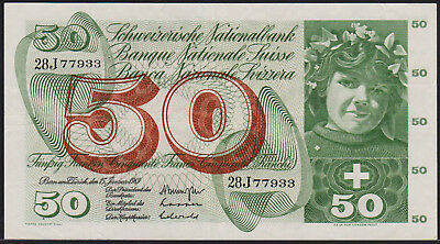 Banknote SWITZERLAND - 50 Franken 1969 - P. 48