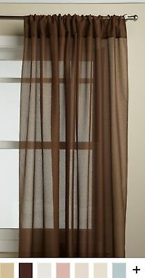 Lorraine Home Fashions Reverie 60-inch x 72-inch Tailored Panel, Chocolate New
