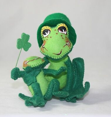Annalee St. Patrick's Day Proud To Be Green Frogs