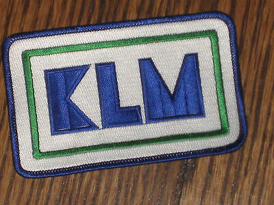 "KLM  patch,60's new old stock,rectangle, 4.75""x3"""