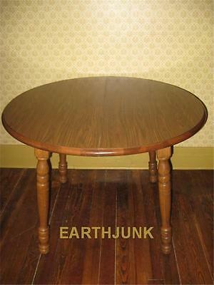 TELL CITY Tanbark Oak Round Extension Dining Room Table 1450 with One Leaf