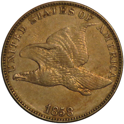 1858 1c Flying Eagle Cent Penny