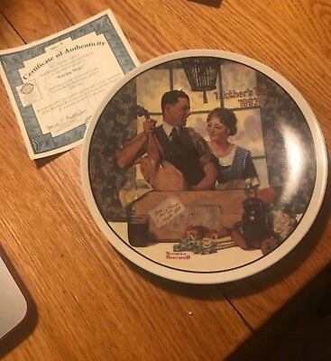 """""""A Special Delivery"""" by Norman Rockwell Plate 1993"""