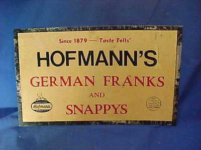 1960s HOFFMANS German FRANKS + SNAPPYS Advertising GROCERY STORE SIGN
