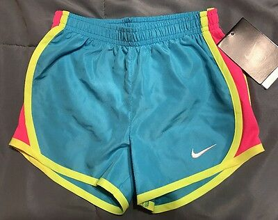 Nike Dri-fit Hot Pink Yellow Blue running shorts girls sz. 4 Retail $25